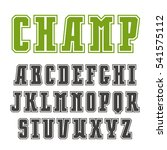slab serif font in college... | Shutterstock .eps vector #541575112