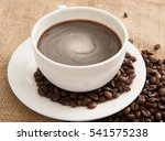 coffee cup and coffee beans on...   Shutterstock . vector #541575238