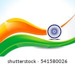 26 january republic day wave... | Shutterstock .eps vector #541580026