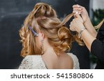 stylist at work makes hair to... | Shutterstock . vector #541580806