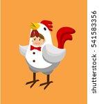 a girl in chicken costume.   Shutterstock .eps vector #541583356