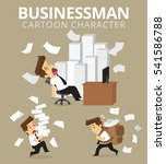 set businessman character.... | Shutterstock .eps vector #541586788