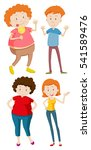 four people in different sizes... | Shutterstock .eps vector #541589476