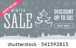winter sale social network... | Shutterstock .eps vector #541592815