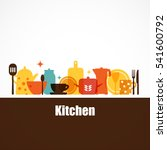 vector set of kitchen utensils... | Shutterstock .eps vector #541600792