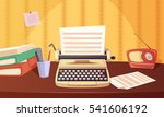 retro gadgets cartoon... | Shutterstock .eps vector #541606192