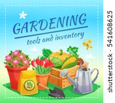 gardening tools and inventory... | Shutterstock .eps vector #541608625