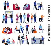 coworking people colored... | Shutterstock .eps vector #541608655
