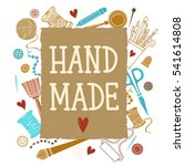 arts and crafts sewing hand...   Shutterstock .eps vector #541614808