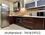 Stock photo kitchen with appliances and a beautiful interior 541619512