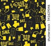 seamless pattern sale. vector... | Shutterstock .eps vector #541629046