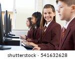 pupils wearing school uniform... | Shutterstock . vector #541632628
