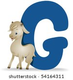 G for Goat - Vector - stock vector
