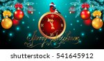 christmas card with decorative  ... | Shutterstock .eps vector #541645912