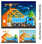construction orthogonal... | Shutterstock . vector #541648036