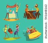 friends cartoon set with... | Shutterstock . vector #541648162