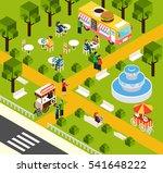 street food truck in water park ... | Shutterstock . vector #541648222