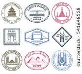 monuments and famous world... | Shutterstock . vector #541648528