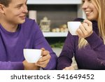 loving young couple sitting in...   Shutterstock . vector #541649452