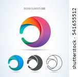vector abstract circle swirl... | Shutterstock .eps vector #541655512