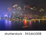 night view and fireworks at... | Shutterstock . vector #541661008