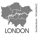 london administrative map | Shutterstock . vector #541669612