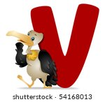 V for Vulture - Vector - stock vector