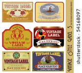 vintage style label  on the... | Shutterstock .eps vector #54168097