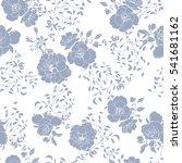 roses flower pattern on a white ...   Shutterstock .eps vector #541681162