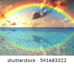 beautiful sunset with dramatic...   Shutterstock . vector #541683322