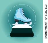 christmas snow globe with skate ... | Shutterstock .eps vector #541687162