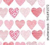 heart pattern  vector seamless... | Shutterstock .eps vector #541691572