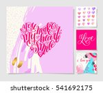 four pieces blank sheet of... | Shutterstock .eps vector #541692175