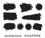 vector set of grunge artistic... | Shutterstock .eps vector #541695496