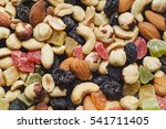 dried nuts and fruits... | Shutterstock . vector #541711405