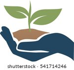hand with a plant | Shutterstock .eps vector #541714246