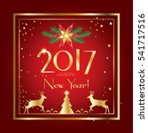 2017 vector merry christmas and ... | Shutterstock .eps vector #541717516