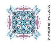 mandala. round ornament pattern.... | Shutterstock .eps vector #541720702