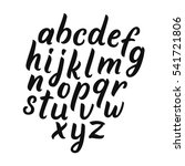 vector alphabet. brush... | Shutterstock .eps vector #541721806