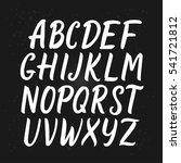 hand drawn script font. hand... | Shutterstock .eps vector #541721812