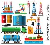 oil extraction transportation... | Shutterstock .eps vector #541723402