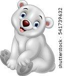 cartoon baby polar bear sitting | Shutterstock .eps vector #541739632