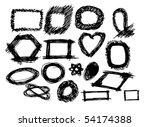 hand drawn frames | Shutterstock .eps vector #54174388