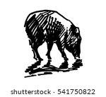 black and white vector... | Shutterstock .eps vector #541750822