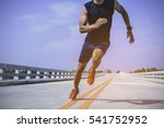 the man athlete runners jogging ... | Shutterstock . vector #541752952
