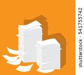 paper pile flat illustration.... | Shutterstock .eps vector #541755742