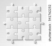 puzzle piece business... | Shutterstock .eps vector #541762252