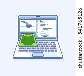 flat line illustration of...   Shutterstock .eps vector #541765126