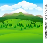 landscape. hills. groups of... | Shutterstock .eps vector #541772716