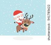 santa in snow. | Shutterstock .eps vector #541785622